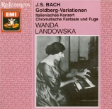 BACH - Landowska - Variations Goldberg, pour clavier BWV.988