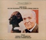 MAHLER - Walter - Symphonie n°2 'Résurrection' (Import Japon) Import Japon