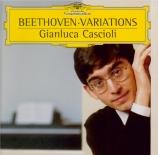 BEETHOVEN - Cascioli - Dix variations pour piano sur 'La stessa, la stes