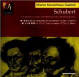 SCHUBERT - Wiener Konzerth - Quatuor à cordes n°9 en sol mineur D.173