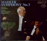 MAHLER - Neumann - Symphonie n°3 (Import Japon) Import Japon