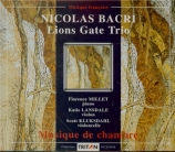 BACRI - Lions Gate Trio - Trio n°1 pour violon, violoncelle et piano op