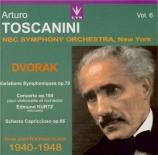 DVORAK - Toscanini - Variations symphoniques pour orchestre op.78 B.70 Toscanini Vol.6
