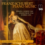 SCHUBERT - Leonskaja - Trois Klavierstücke, pour piano D.946