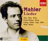 MAHLER - Popp - Lieder