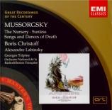 MOUSSORGSKY - Christoff - Mélodies