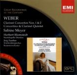 WEBER - Meyer - Concerto pour clarinette n°1 op.73