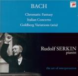 BACH - Serkin - Variations Goldberg, pour clavier BWV.988