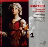 BONPORTI - Banchini - Inventions pour violon et basse continue op.10 : s