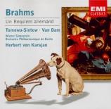 BRAHMS - Karajan - Ein deutsches Requiem (Un Requiem allemand), pour sol