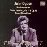 RACHMANINOV - Ogdon - Huit études-tableaux pour piano op.33