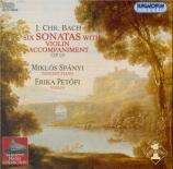 BACH - Spanyi - Sonates (6) pour clavier et violon op.10