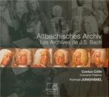 Altbachisches Archiv : Les Archives de J.S. Bach