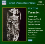 PUCCINI - Ghione - Turandot (Turin 1938) Turin 1938