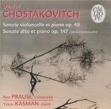 CHOSTAKOVITCH - Prause - Sonate pour violoncelle et piano op.40