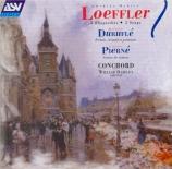LOEFFLER - Conchord - Rhapsodies, pour hautbois, alto et piano