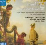 LISZT - Weil - Zur Säkularfeier Beethovens, pour quatre voix, choeur et o