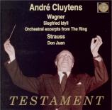 WAGNER - Cluytens - Siegfried-Idyll, pour orchestre en mi majeur WWV.103