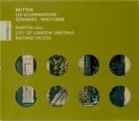 BRITTEN - Hill - Les Illuminations (Rimbaud), cycle de mélodies pour voi