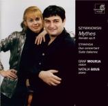 SZYMANOWSKI - Mourja - Mythes, pour violon et piano op.30