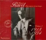 Ravel et son temps Vol.3 : 1918-1934