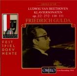 BEETHOVEN - Gulda - Sonate pour piano n°2 op.2 n°2