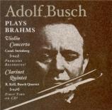 BRAHMS - Busch - Concerto pour violon et orchestre en ré majeur op.77