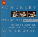 SCHUBERT - Wand - Symphonie n°1 D.82
