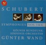 SCHUBERT - Wand - Symphonie n°3 en ré majeur D.200