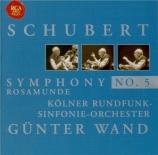 SCHUBERT - Wand - Symphonie n°5 en si bémol majeur D.485