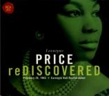 Price rediscovered : 28 février 1965 (Débuts à Carnegie Hall