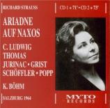 STRAUSS - Böhm - Ariadne auf Naxos (Ariane à Naxos), opéra op.60 Live, Salzburg 26 - 07 - 1964