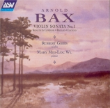 BAX - Gibbs - Sonate pour violon et piano n°1 GP.124 (première version 1