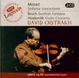 MOZART - Oistrakh - Sinfonia concertante pour violon, alto et orchestre