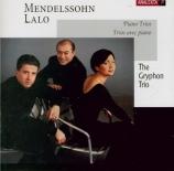 MENDELSSOHN-BARTHOLDY - Gryphon Trio - Trio avec piano n°2 en do mineur