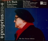 BACH - Ericson - Passion selon St Jean BWV 245