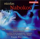 NABAKOV - Poliansky - Méditation sur la majesté de Dieu, ode