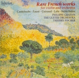 Rare French Works for Violin and Orchestra