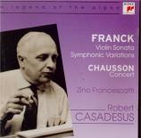 FRANCK - Casadesus - Sonate pour piano et violon en la majeur FWV.8