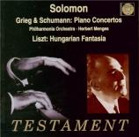 GRIEG - Solomon - Concerto pour piano en la mineur op.16