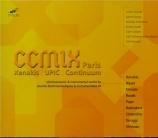 CCMIX Paris : Oeuvres électroacoustiques et instrumentales