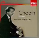 CHOPIN - François - Douze études pour piano op.10
