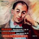 BRAHMS - Budapest String - Quatuor avec piano n°1 en sol mineur op.25