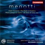 MENOTTI - Hickox - Concerto pour violon
