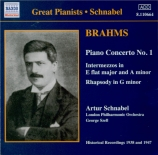 BRAHMS - Schnabel - Concerto pour piano et orchestre n°1 en ré mineur op