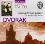 DVORAK - Talich Quartet - Quatuor à cordes n°14 en la bémol majeur op.10