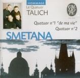 SMETANA - Talich Quartet - Quatuor à cordes n°1 'De ma vie'