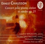 CHAUSSON - Wagschal - Concert pour piano, violon et quatuor à cordes op