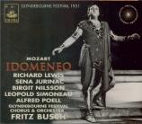 MOZART - Busch - Idomeneo, rè di Creta (Idoménée, roi de Crète), opéra s