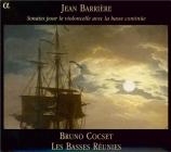 BARRIERE - Cocset - Sonate pour violoncelle et basse continue n°1 en si